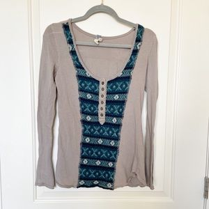 FREE PEOPLE • Wool Blend Knit Thermal Top Sz S